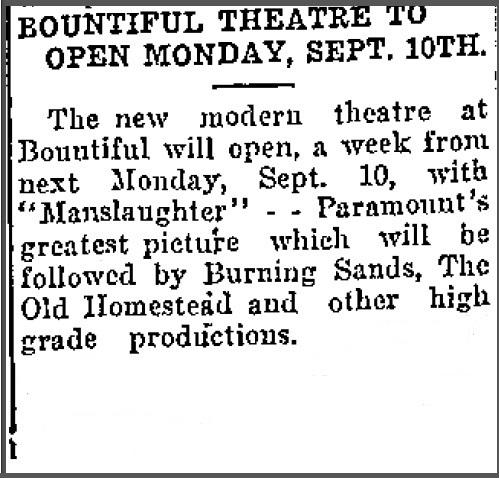 Bountiful Theatre