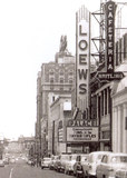Loew's Palace marquee advertising CinemaScope.