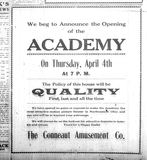 """[""""Academy grand opening announcement""""]"""