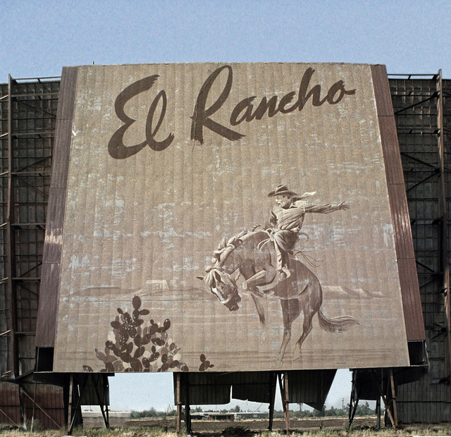El Rancho mural by Don Clever just prior to demolition