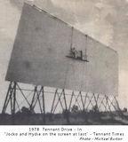 Photo Shows – Tennant Drive In Theatre Screen 1978 – Tennant Creek – Maintenance time