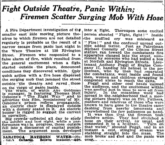 Article that appeared on front page of NYTimes Jan. 9. 1922