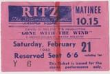 """Ritz"" ticket stub, 1942"