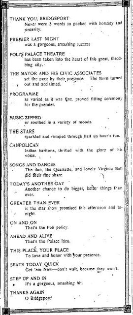 September 5th, 1922 announcement