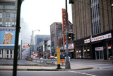 <p>A shot of the Paramount Theatre on Church Street, Downtown Nashville, 1968. The marquee differs from the 1930 photos posted by another member. Not sure when it was changed.</p>