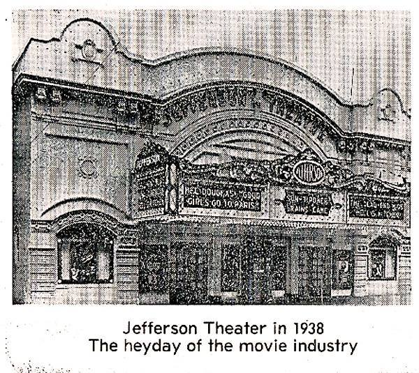 The Jefferson Theater in a Fort Wayne Journal-Gazette photo showing the theater in 1938.