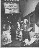 Protestors at Orson Welles Cinema