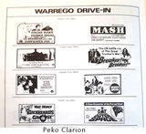 Warrego Drive In Theatre, NT Australia - Newspaper advert