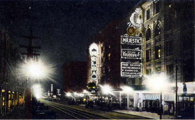 Majestic Theatre exterior and the nearby Melba Theatre