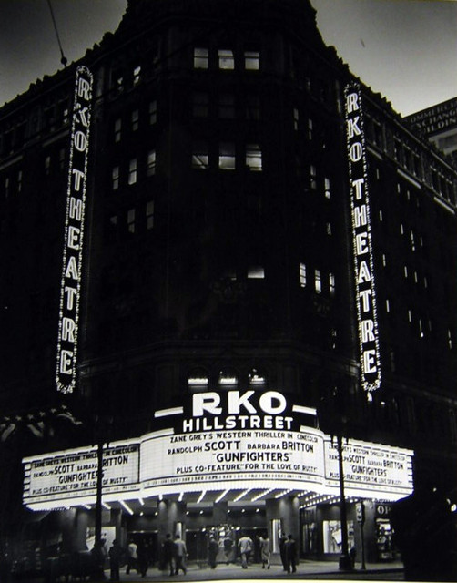 RKO Hillstreet Theatre remodeled exterior