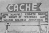 Cache Drive-In marquee