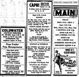 Capri & Coldwater Drive-Ins 8/26/67