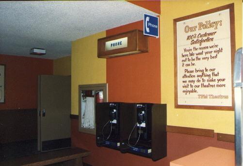 Payphones in lobby