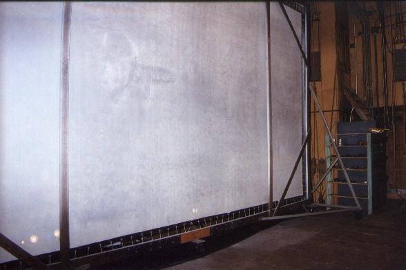 Rear of screen