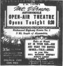 Herald Announcing the Opening Of The Mount Vernon Open Air Theatre