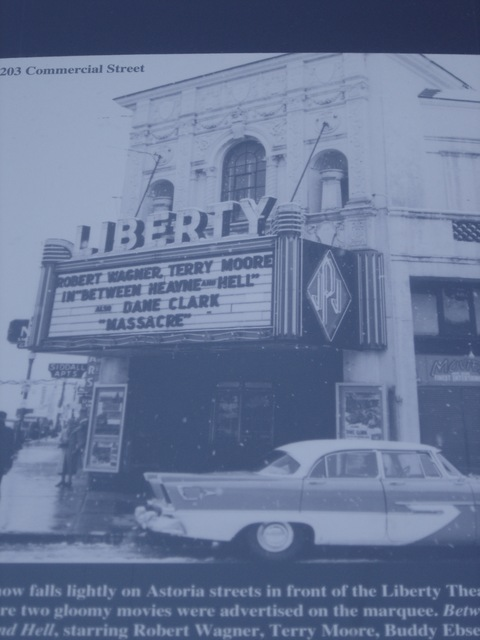 an old photo of the Liberty Theater