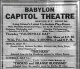 CAPITAL THEATER OPENING 1923