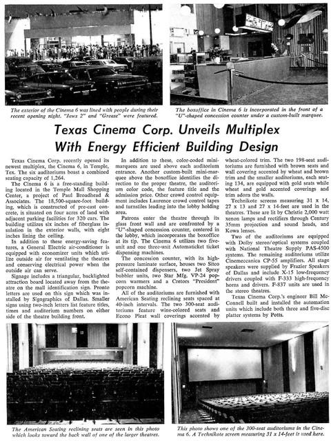 Cinema 6 - Temple, TX