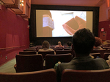 theatre adverise perfect sightlines.  Wrong poor sightlines, head blocking screen