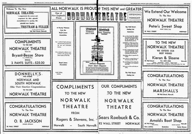 April 4th, 1939 grand opening ad as Norwalk Theatre