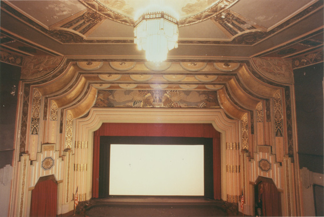 Boyd auditorium showing movie screen