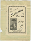 Playbill for Mission Theatre performance