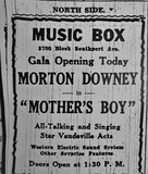 Opening Day newspaper ad.  1929.