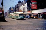 Windsor blade sign above the Green Hornet streetcar, circa 1950. Photo credit The Trolley Dodger