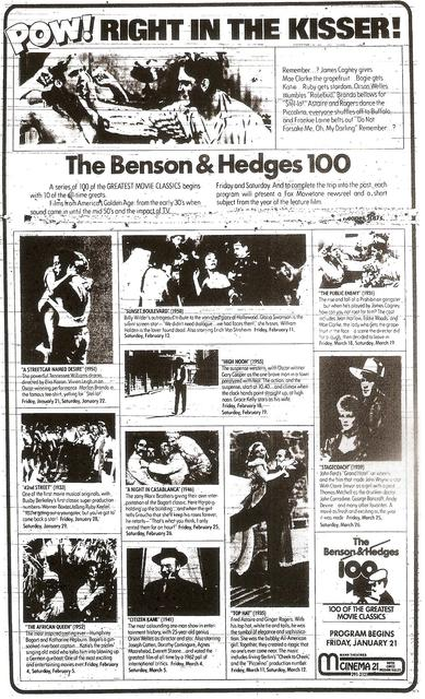 The Benson & Hedges 100