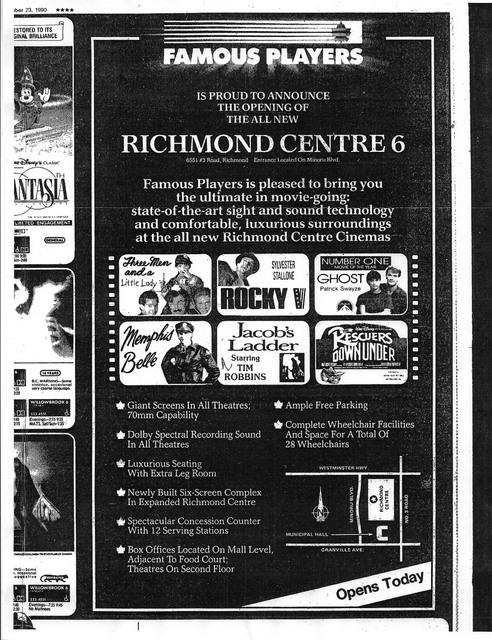 Original Newspaper ad, November 23, 1990