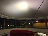 """[""""Dome and lighting rig over traditional side entrance area""""]"""