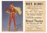 1941 Captain Marvel serial handout, front and back. Via Larry Zdeb.