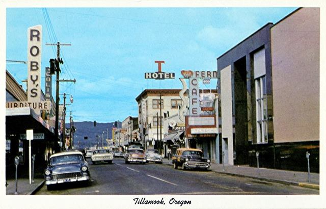 Late `50s postcard image via Bob Culpepper.