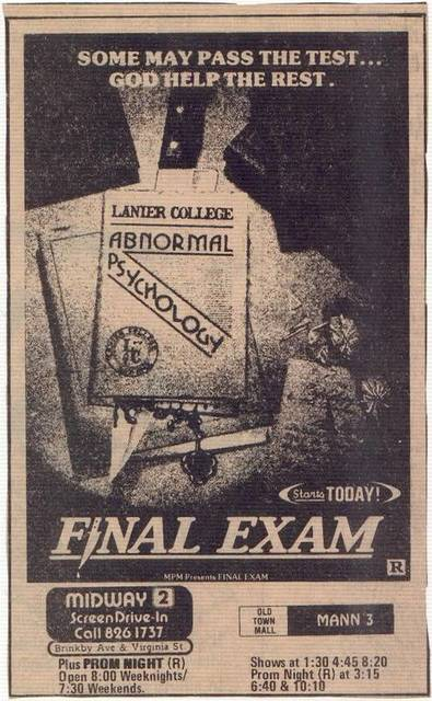 Final Exam Ad July 10, 1981