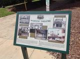 Plaque at Majestic Park, 2014 photo courtesy of the Majestic Park Facebook page.