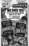 Frankenstein and Dracula Double Feature - October 1938 - Garrick Theatre - Chicago