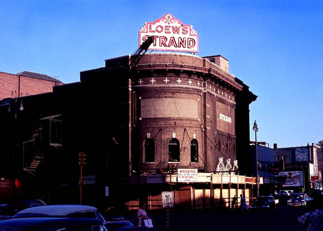 Loew's Strand Theatre exterior (Being Razed)
