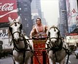 "Screen grab from ""Hercules In New York"" 1969 credit RAF Industries."