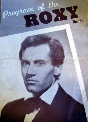 "Roxy Theatre program cover ""Young Mr. Lincoln"""