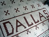 Dallas Theatre Lobby - Name Set Forth In Tile