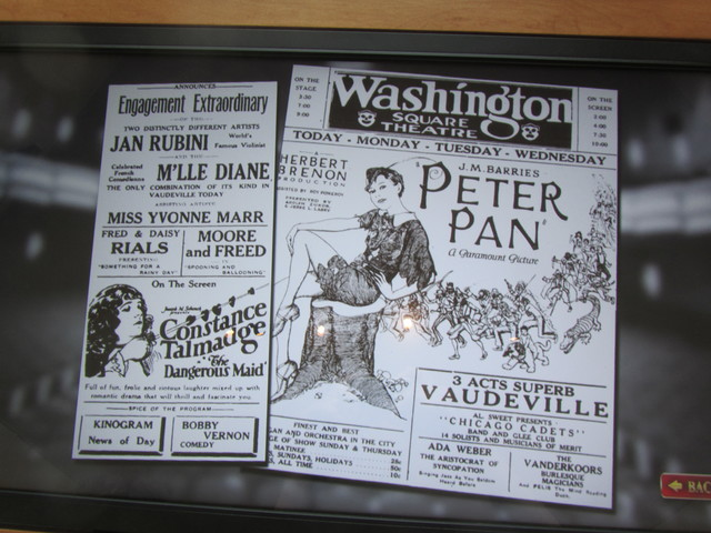 Some ads showing what was playing at the Washington Theater around 1929