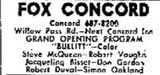 Fox Concord Theatre