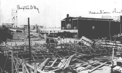 Arcadia Theatre in 1933 after Hurricane of 1933
