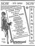 September 29th, 1929 grand opening ad