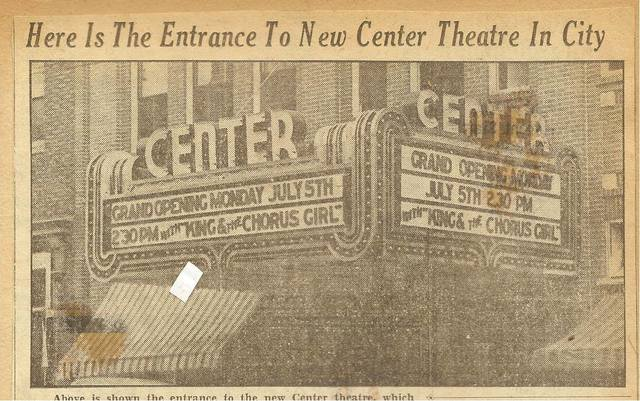 July 5, 1937 Grand Opening newspaper image via Tom Brissey.