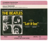"Ticket for ""Let It Be"" Premiere 1970"