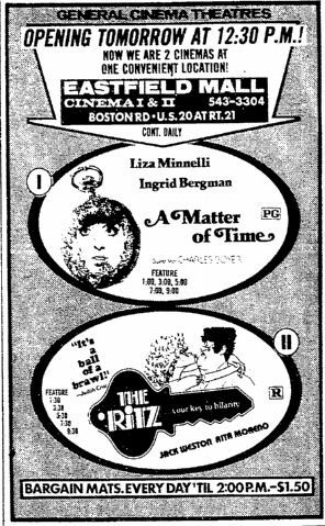 October 21st, 1976 Grand opening of the Eastfield Mall Twin cinema