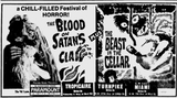 <p>From the Miami News, February 4th, 1972. Typical drive-in movie fare that I saw as a kid with my parents in Miami. That early exposure and love for these kind of low-brow double features eventually lead me to the grind houses of 42nd Street and Times Square when I was a teenager in New York City.</p>