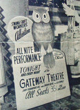Fox Gateway Theatre lobby sign