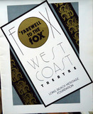 Fox West Coast Theatre program cover for last show held there
